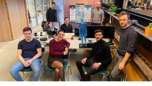L'équipe de la start-up lyonnaise Neopolis.