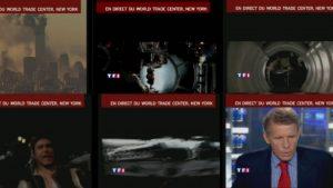 Les images du film retransmises en direct sur TF1, le 11 septembre 2001.